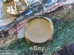 1950 Vintage ELGIN, Fancy Case, Stunning RED Dial, With One Year Warranty