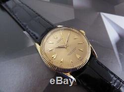 1957 Vintage Men's Rolex Bombe 14K Gold, Ref 1011 Serviced One Year Warranty