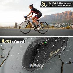 48V 13AH 1000W E-Bike TIGER SHARK Li-ion Battery Black One Year Warranty US