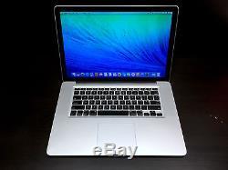Apple MacBook Pro 15 inch OSX 2015 One Year Warranty Fully Loaded 500GB HD