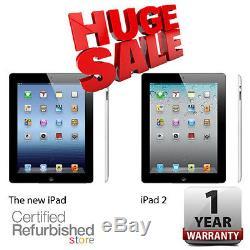 Apple iPad 16GB Black 2 or 4th Generation (Retina Display) One Year Warranty