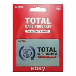 Autel MS906TS-1YR One Year Update Subscription Warranty Total Care Program Card