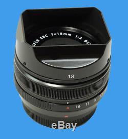 BRAND NEW Fuji Fujifilm Fujinon XF 18mm f2 R Lens (2019) WITH ONE YEAR WARRANTY