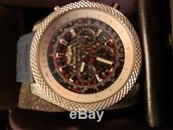 Breitling Bentley GMT Abo612 huge Wrist Watch for Men one year warranty