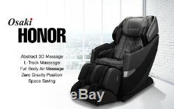 Brown Osaki OS-Pro 3D Honor S L-Track Massage Chair Recliner One Year Warranty