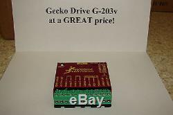 CNC Geckodrive G-203V ONE YEAR FACTORY WARRANTY stepper motor Driver WithEXTRAS
