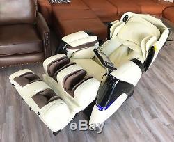 Cream Osaki Pro Cyber Zero Gravity Massage Chair Recliner with One Year Warranty
