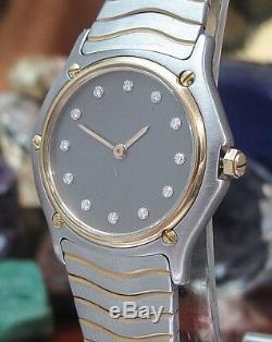 Ebel Wave Diamond dial watch Model 181908 Calibre 81 One Year Warranty Swiss