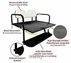 GTW Rear Flip Seat Kit Ezgo TXT 96-Up Black Cushions Mach1 One Year Warranty