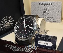 Longines Avigation Automatic Date watch L2.831.4 One Year Warranty GMT swiss