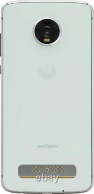 Motorola Moto Z4 128GB Frost White (Verizon) ONE YEAR WARRANTY