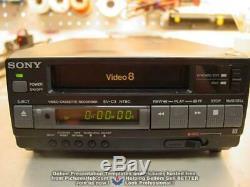 NEW Open Box SONY EV-C3 (EV-A50 / EV-C40) 8mm Video8 VCR One Year Warranty