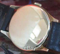 Omega Vintage Swiss made watch cal 30T2P black strap circ1948 One Year Warranty