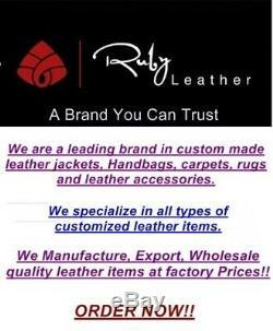 One Year Leather Warranty! Men's Custom Made leather jacket designer jacket