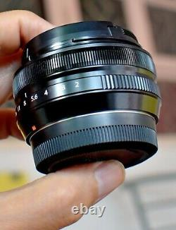PRE-OWNED Fuji Fujinon XF 18mm f2 R Lens HARDLY USED, ONE YEAR WARRANTY + FILTER