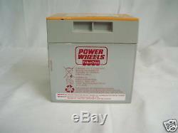 Power Wheels 00801-1661 ORANGE & Grey BATTERY ONE YEAR WARRANTY Genuine