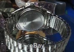 Pulsar chronograph Y182-6A60 Working Date watch One Year warranty Green Hands