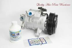 Reman. A/C Compressor for 08-10 Dodge Ram 1500 3.7L/4.7L Withone year Warranty