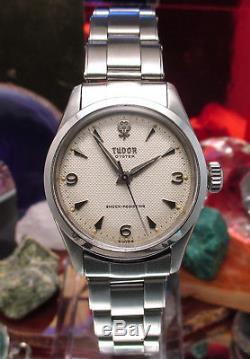 Rolex Tudor Oyster Honeycome Dial 7903 Rivet bracelet serviced One Year warranty