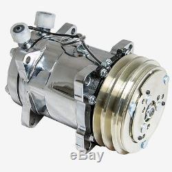 SANDEN 508 AC Compressor V-Belt, Chromed (Sliver Clutch) ONE YEAR WARRANTY