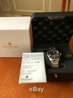 STEINHART Ocean 1 One Vintage RED NEW Black Dial, Full 2 Year Warranty