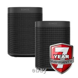 Sonos One Black Gen 2 Twin Pack 7 Year Warranty Smart Speaker