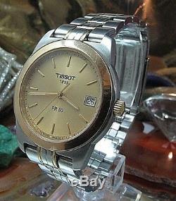 Tissot PR50 Gents 50M Two Tone titanium Date Watch One Year Warranty J376/476K