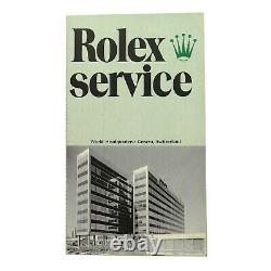 Very Rare Vintage Rolex Service One Year Factory Warranty Loose-leaf Certificate