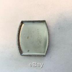 Vintage 1928 Men's Bulova Barrel Engraved Case Swiss Made One Year Warranty