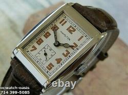 Vintage 1935 HAMILTON Drake, Stunning Silver Dial, Serviced, One Year warranty