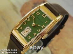 Vintage 1936 HAMILTON CLARK, Stunning Green Dial, Serviced, One Year warranty
