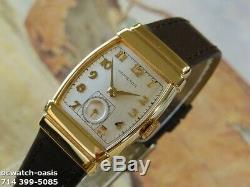 Vintage 1939 HAMILTON Foster, Stunning SILVER Dial, Serviced, One Year warranty