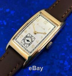 Vintage 1940s Mans BULOVA Hand Winding, Fully Serviced With One Year WARRANTY