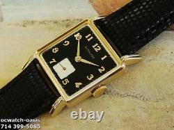 Vintage 1941 HAMILTON Eric, Stunning Black Dial, Serviced, One Year warranty