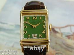Vintage 1941 HAMILTON LESTER, Stunning Green Dial, Serviced, One Year warranty