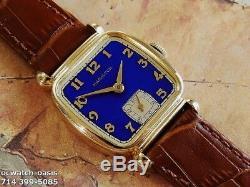 Vintage 1941 HAMILTON MARTIN, Stunning BLUE Dial, Serviced, One Year warranty