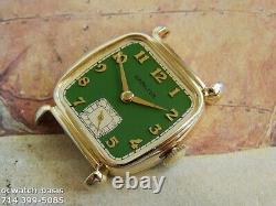Vintage 1941 HAMILTON MARTIN, Stunning Green Dial, Serviced, One Year warranty