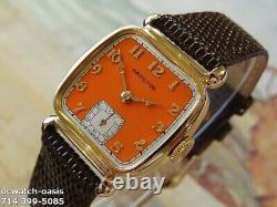 Vintage 1941 HAMILTON MARTIN, Stunning Orange Dial, Serviced, One Year warranty