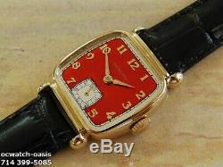 Vintage 1941 HAMILTON MARTIN, Stunning Red Dial, Serviced, One Year warranty