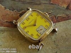 Vintage 1941 HAMILTON MARTIN, Stunning Yellow Dial, Serviced, One Year warranty