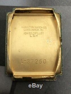 Vintage 1941 Hamilton Essex, USA Made Ca 980, 17J Serviced One Year Warranty