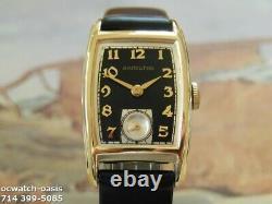 Vintage 1942 HAMILTON Alan, Stunning Black Dial, Serviced, One Year warranty