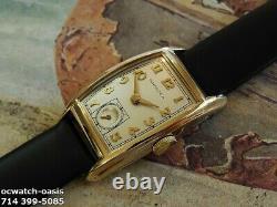 Vintage 1942 HAMILTON Alan, Stunning Silver Dial, Serviced, One Year warranty