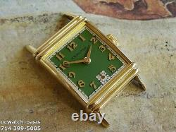 Vintage 1945 HAMILTON LESTER, Stunning Green Dial, Serviced, One Year warranty