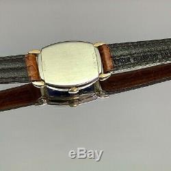 Vintage 1945 Men's Bulova Blue Dial Small Case Swiss Made One Year Warranty