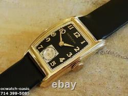 Vintage 1946 HAMILTON Alan, Stunning Black Dial, Serviced, One Year warranty