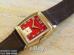 Vintage 1948 HAMILTON FORBES, Serviced, Stunning RED Dial, One Year warranty
