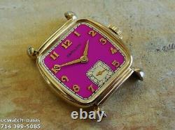 Vintage 1948 HAMILTON MARTIN, Stunning Pink Dial, Serviced, One Year warranty