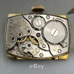 Vintage 1948 Men's Bulova, 21 Jewels, Caliber 7AK, USA Made One Year Warranty