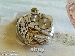 Vintage 1949 HAMILTON CARLTON, Stunning SILVER Dial, Serviced, One Year warranty